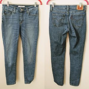 🦓 3/$60! Levi's 711 Skinny Ankle Jeans W27 L28